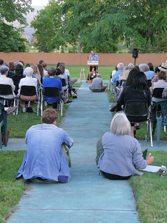 Outdoor reading at the Napa Valley Writers' Conference